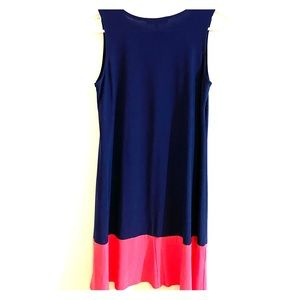 Annalee + Hope Sleeveless Dress Blue and Pink S